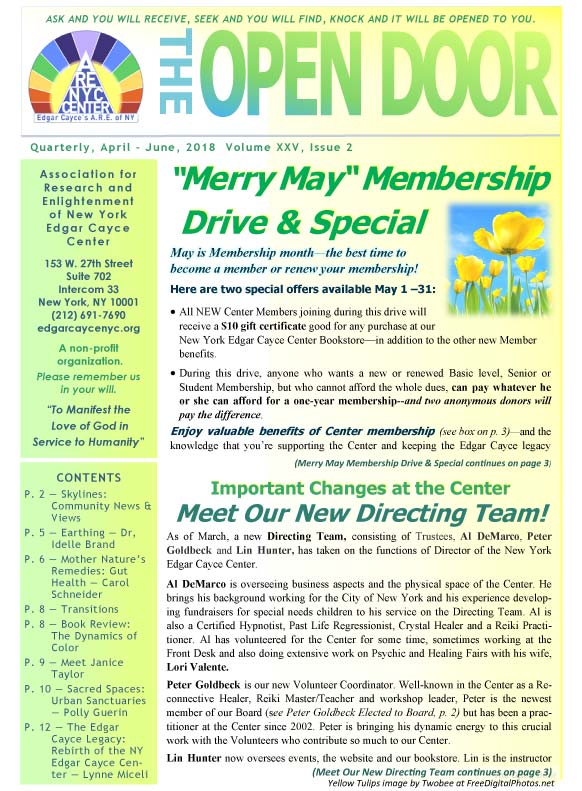OpenDoorNewsletter Apr-Jun 2018