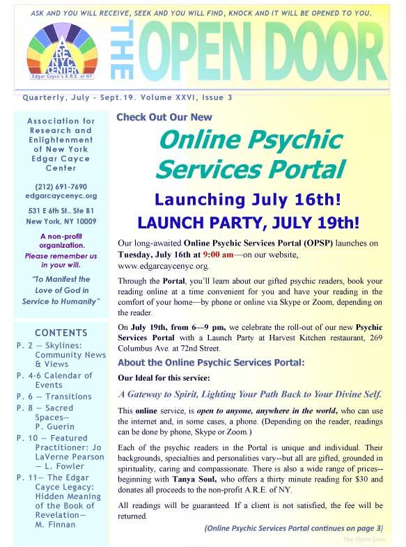 Latest News - A R E  of New York Edgar Cayce Center - Events