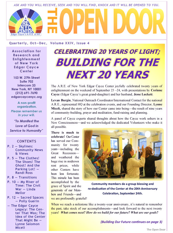 Latest News - A R E  of New York Edgar Cayce Center - Events