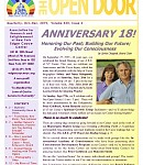 Oct-Dec 2015: The Anniversary Issue of Open Door! 18 Years-Then & Now, Gut Health & Your Brain, Creating A Healing Field, A Touch from the Other Side